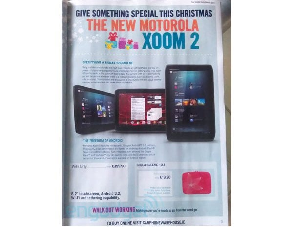 Tabletowo.pl Motorola Xoom 2 jeszcze w tym roku za 400 euro. Bez AICS Motorola Nowości Plotki / Przecieki