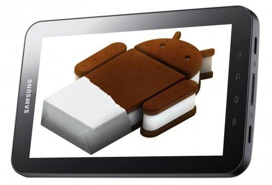 tablet samsung galaxy tab android ice cream sandwich