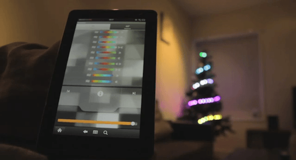Tabletowo.pl Zapal choinkę tabletem Amazon Kindle Fire (wideo) Ciekawostki Nowości