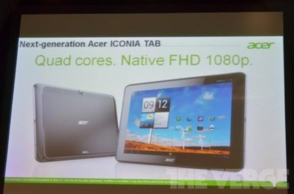 Tabletowo.pl Tajemniczy tablet Acera (Iconia Tab A700?) z czterema rdzeniami i ekranem 1080p zapowiedziany [update] Nowości