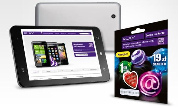 Tabletowo.pl ZTE Light + starter Play Online na kartę 1GB za 699 złotych Nowości