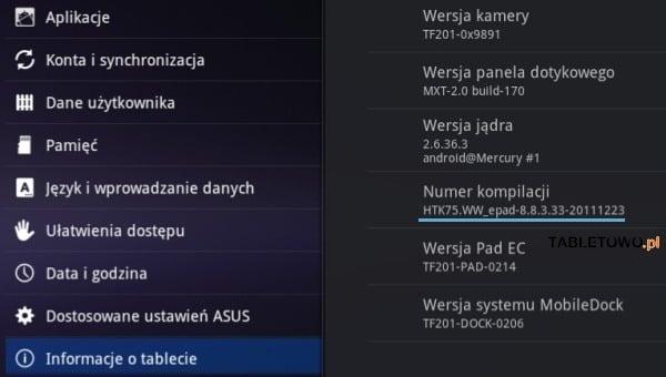 Tabletowo.pl Asus Transformer Prime z aktualizacją oprogramowania Nowości
