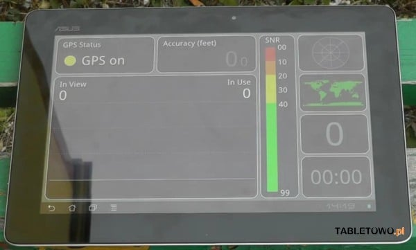 tablet asus transformer prime gps test