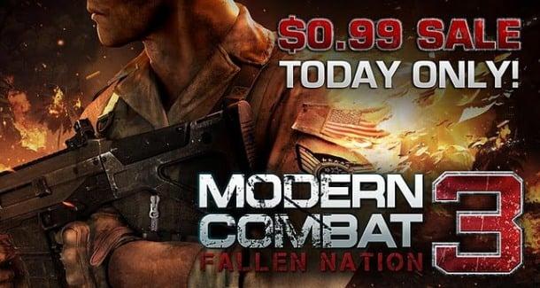 Tabletowo.pl Promocja Gameloft: Modern Combat 3 za 3,39 zł Aplikacje Nowości Promocje