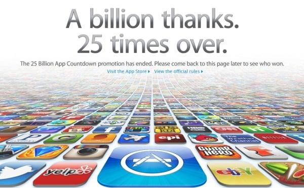 Tabletowo.pl Wielkie odliczanie w Apple AppStore. Wkrótce 25 miliardów pobrań (update: koniec odliczania) Aplikacje Apple Ciekawostki