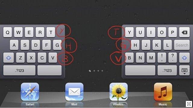 Tabletowo.pl Ukryte przyciski na dzielonej klawiaturze iPada Apple Ciekawostki Nowości
