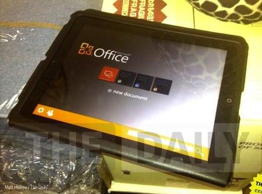 Tabletowo.pl Microsoft Office dla iPada po raz pierwszy na zdjęciu (update: tak-nie-tak) Aplikacje Apple Plotki / Przecieki