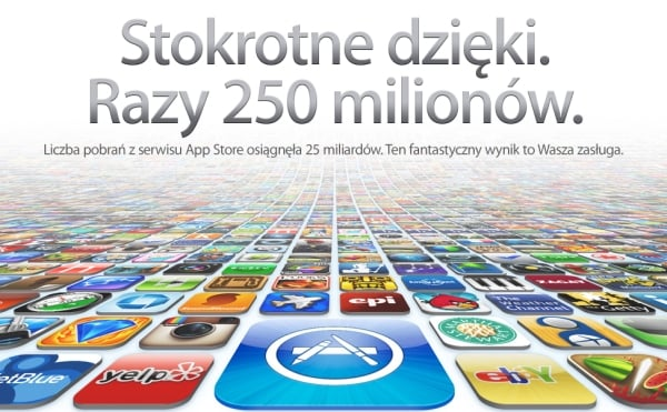 250 miliardów aplikacji app store