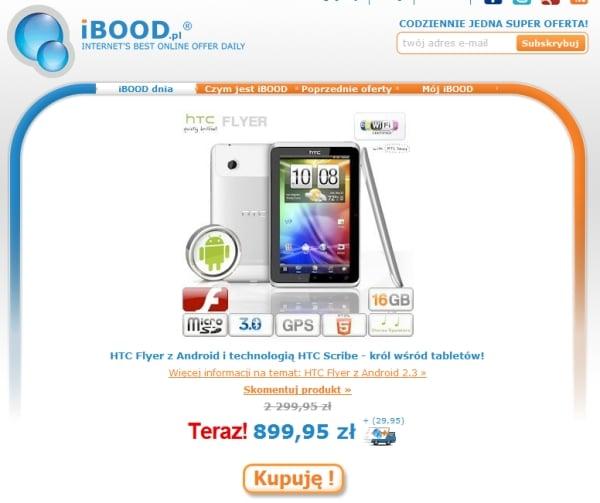 Tabletowo.pl Promocja: HTC Flyer w iBood za 900 złotych HTC Nowości Promocje
