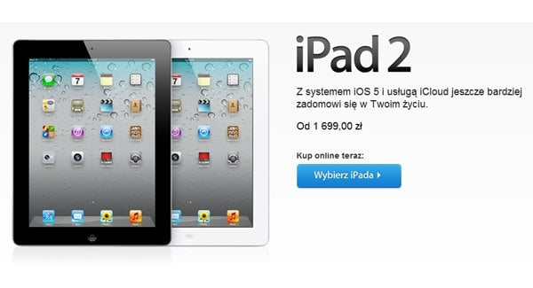 Tabletowo.pl Apple iPad 2 16GB przeceniony na 1699 złotych Apple Nowości