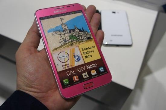 Tabletowo.pl Różowy Samsung Galaxy Note debiutuje na CeBIT 2012 Nowości Samsung