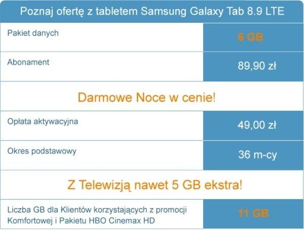 galaxy tab 8.9 lte cyfrowy polsat