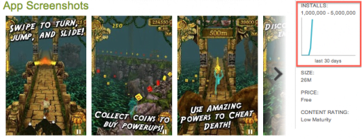 temple run milion pobrań