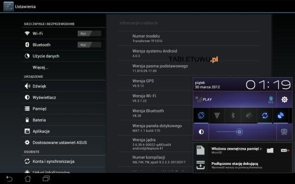 Tabletowo.pl Android 4.0.3 ICS dla Asusa Transformer TF101G - 5 kwietnia w Polsce (update: już jest!) Asus Nowości