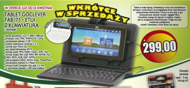 Tabletowo.pl Goclever Tab I71 - tani tablet (299 złotych) z... Polo Market Ciekawostki Nowości