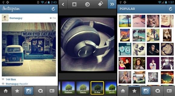 Tabletowo.pl Instagram na Androida - aktualizacja wnosząca wsparcie dla tabletów Aplikacje Nowości Social Media