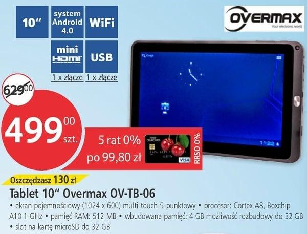 """Tabletowo.pl Overmax OV-TB-06: 10,1"""" i Android 4.0. Ciekawa propozycja z Tesco za 499 złotych Nowości"""