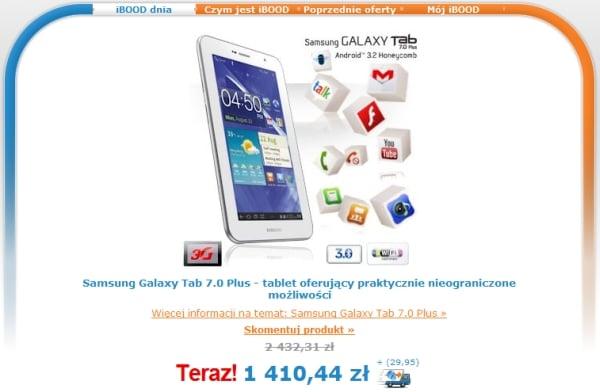Tabletowo.pl Samsung Galaxy Tab 7.0 Plus w iBood za 1410 złotych Nowości Samsung