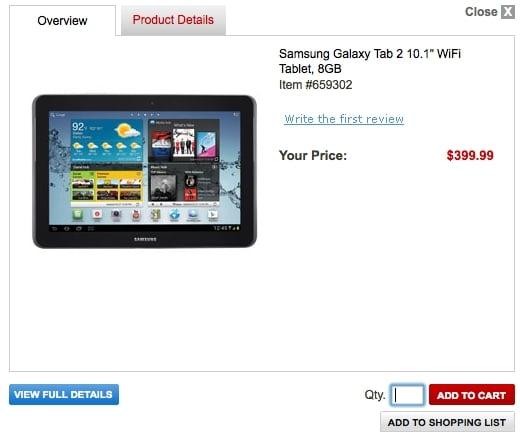 Tabletowo.pl Samsung Galaxy Tab 2 10.1 nieoficjalnie wyceniony w Stanach Nowości Plotki / Przecieki Samsung