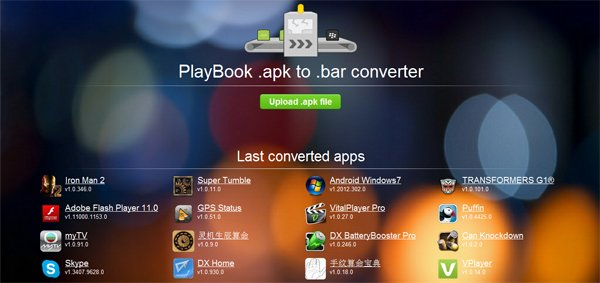 Tabletowo.pl Konwerter online wzbogaci zaplecze programowe tabletu PlayBook Aplikacje BlackBerry Ciekawostki