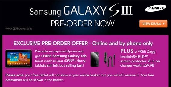 Tabletowo.pl Carphone Warehouse: zamów Samsunga Galaxy S3, Galaxy Tab 10.1 dostaniesz gratis Ciekawostki Nowości Promocje Samsung