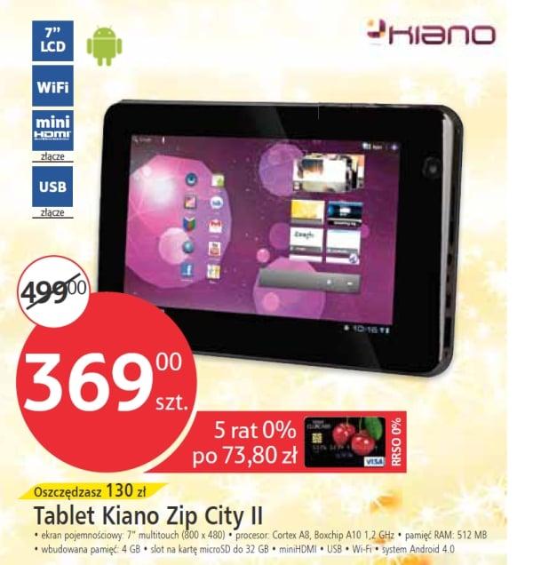Tabletowo.pl Kiano Zip City II za 369 złotych w Tesco (wideo) - aktualizacja: oświadczenie Nowości Recenzje