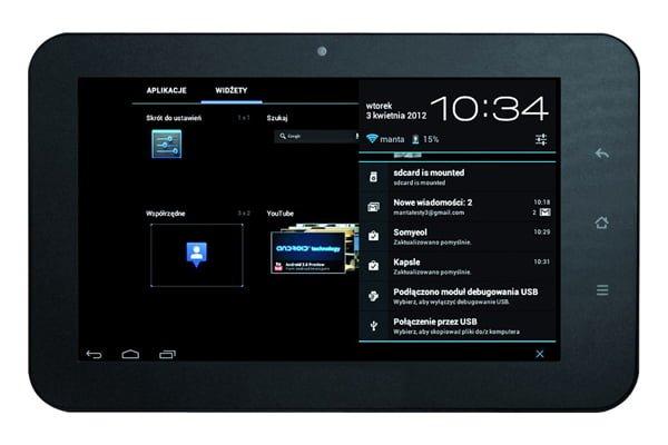 Tabletowo.pl Manta powraca z PowerTab MID05S: 7'', 1,5GHz i Android 4.0 ICS za 499 złotych Nowości