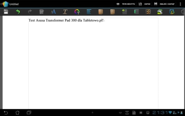 asus transformer pad 300 test