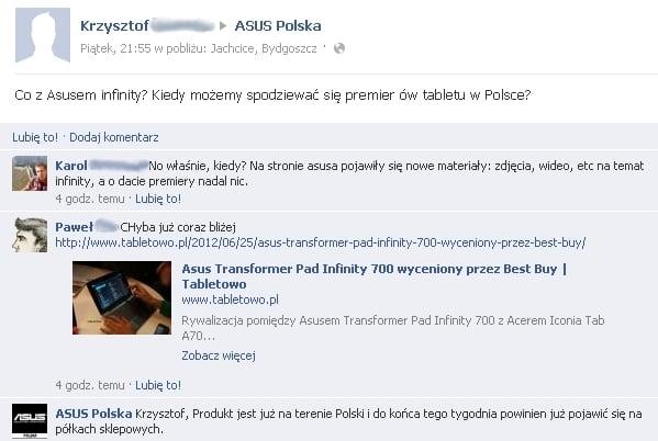 Tabletowo.pl Asus Transformer Pad Infinity 700 w Polsce... pod koniec tygodnia! Asus Nowości