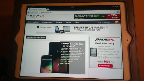 Google Chrome na iPada