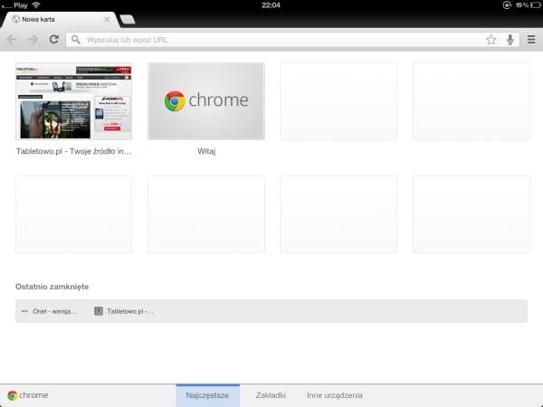 Tabletowo.pl Google Chrome na iPada już jest. Drive również Aplikacje Apple Nowości