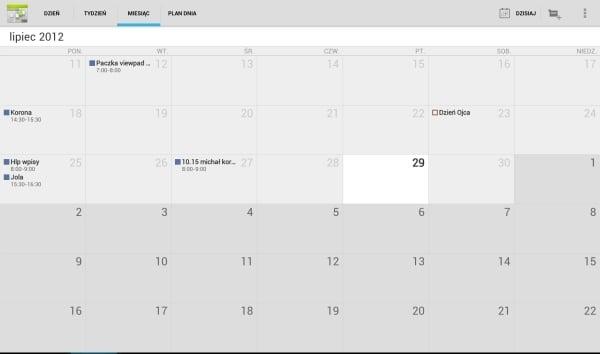infinity kalendarz