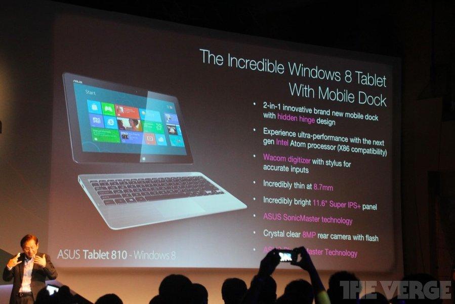 Asus Tablet 810: 11,6'', Windows 8 i procesor Intel Atom 21