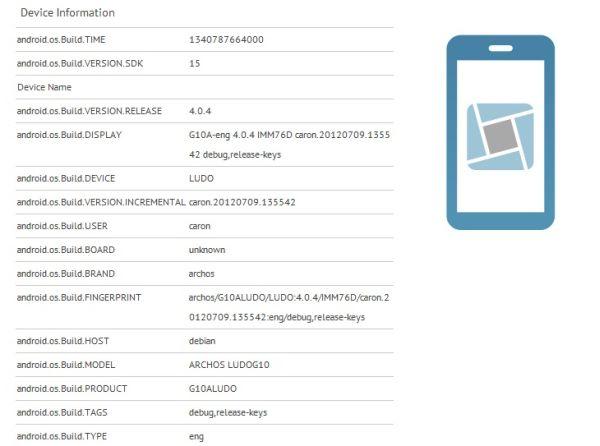Tabletowo.pl Archos Ludo G10, tajemniczy tablet do gier, pojawia się w wynikach GLBenchmark Nowości Plotki / Przecieki