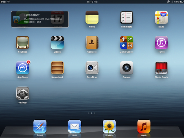 Tabletowo.pl NotiPad, czyli nowy styl powiadomień na iPadzie (wideo) Aplikacje Apple