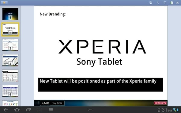 sony tablet xperia s2
