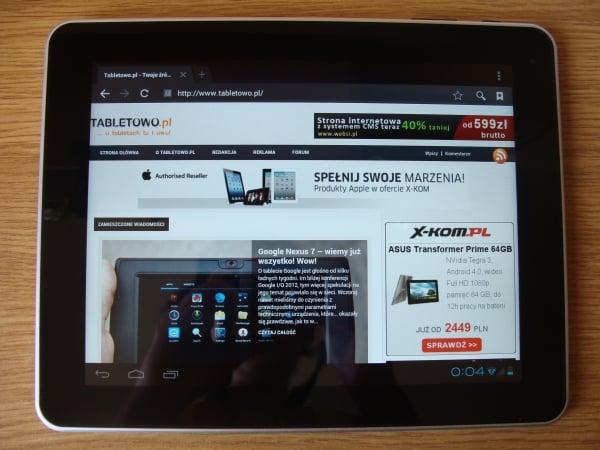 Tabletowo.pl Recenzja tabletu Apollo Quicki 1035 Nowości Recenzje