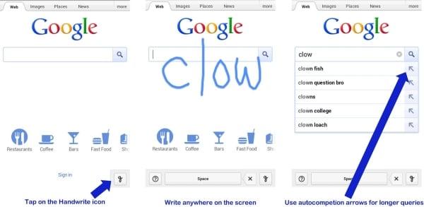 Tabletowo.pl Mobilna wyszukiwarka Google z rozpoznawaniem ręcznego pisma (wideo) Aplikacje Ciekawostki Nowości