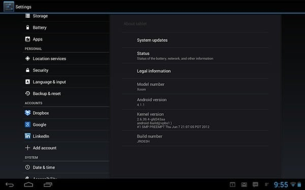motorola xoom android jelly bean