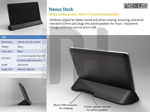 Tabletowo.pl Stacja dokująca i skórzane etui dla Google Nexus 7 w drodze Akcesoria Asus Nowości Plotki / Przecieki