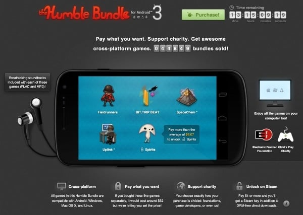 Tabletowo.pl Humble Bundle z grami na Androida: Fieldrunners, Bit.Trip Beat, SpaceChem, Uplink i Spirits Aplikacje Nowości