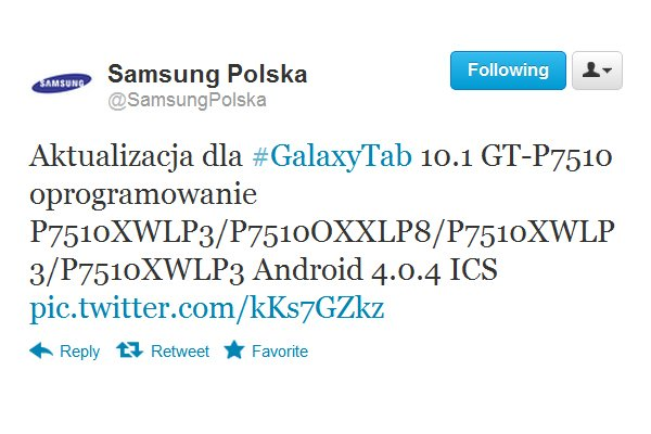 Tabletowo.pl Samsung Galaxy Tab 10.1 otrzymał aktualizację do wersji Android 4.0.4 ICS Nowości Samsung