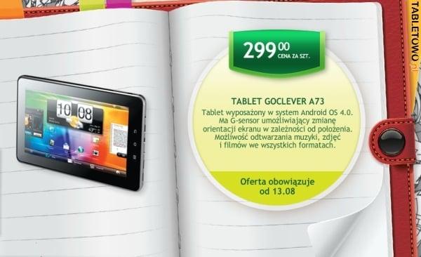 gocelver tab a73 biedronka 299 złotych