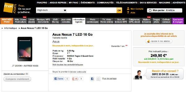 Tabletowo.pl Google Nexus 7 we Francji i innych krajach europejskich we wrześniu Nowości Plotki / Przecieki