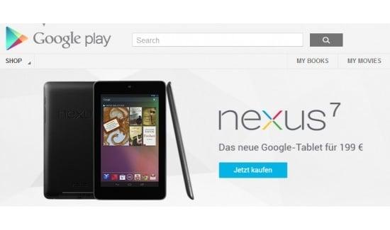Tabletowo.pl Google Nexus 7 w sprzedaży we Francji, Niemczech i Hiszpanii Asus Nowości