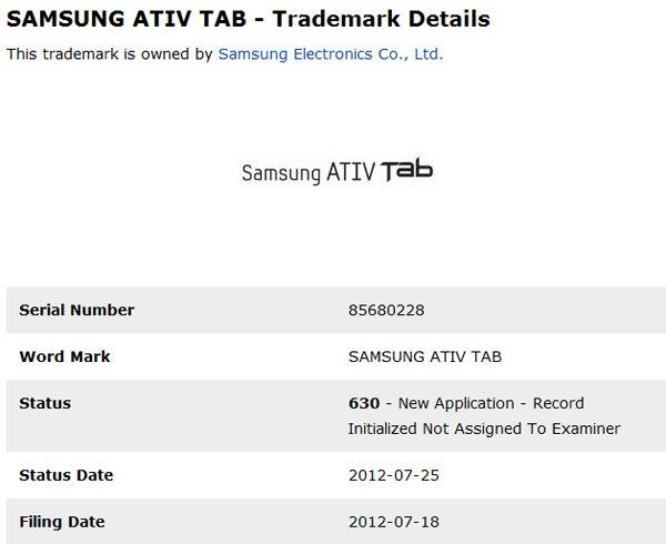 Tabletowo.pl Samsung zarejestrował nazwę Ativ Tab. Czy to początek nowej rodziny tabletów? Nowości Plotki / Przecieki Samsung