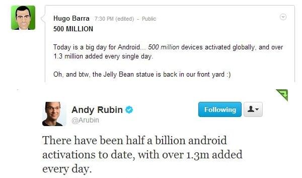 pół miliona urządzeń z androidem
