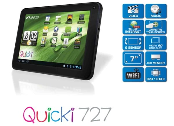 tablet apollo quicki 727