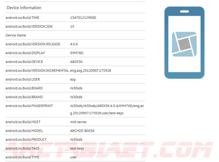 Tabletowo.pl Archos 80XS z procesorem Rockchip RK3066? Nowości