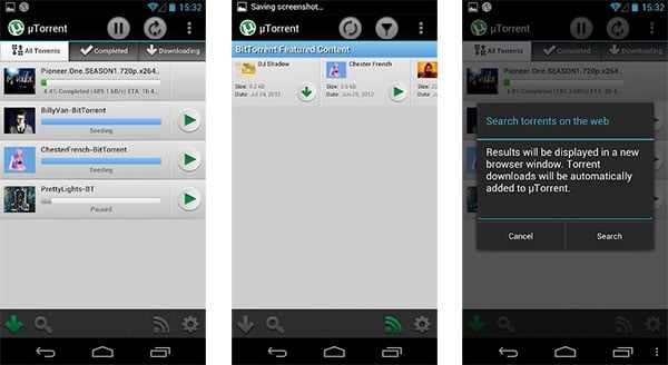 µTorrent na Androida